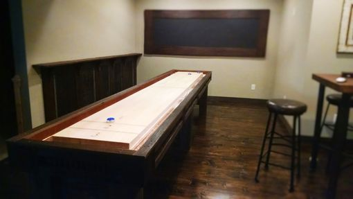 Custom Made Rustic Shuffleboard Table