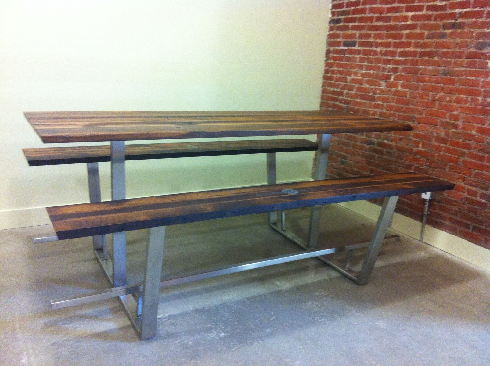 Hand Crafted Custom Picnic Table By Twelvestudio CustomMadecom - Stainless steel picnic table