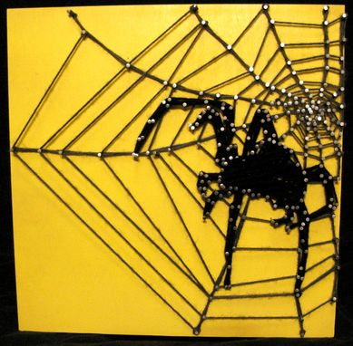 Custom Made String Art Spider Web