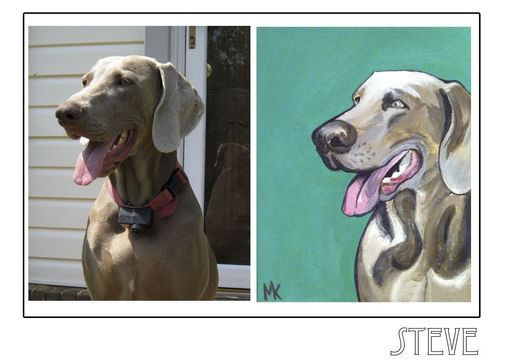 Custom Made Steve - Pawblo Picasso Pet Paintings