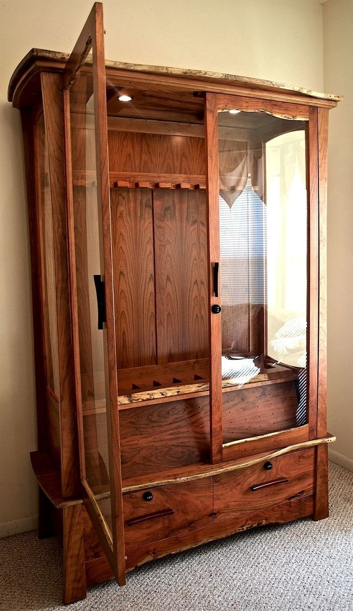 Hand crafted mesquite cherry gun cabinet by louis fry craftsman in hand crafted mesquite cherry gun cabinet by louis fry craftsman in wood custommade teraionfo