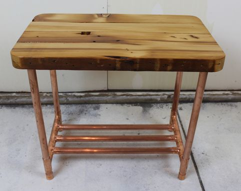Miraculous Buy A Custom Made Reclaimed 2X4 Copper Pipe Side Table Ncnpc Chair Design For Home Ncnpcorg