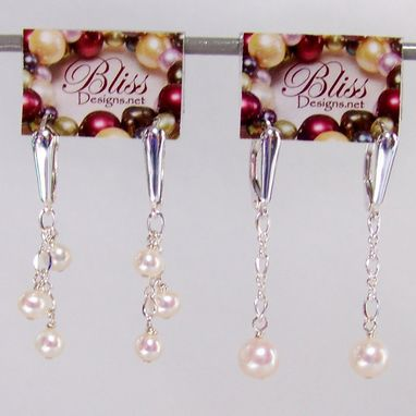 Custom Made Pearl Earrings With Sterling Silver