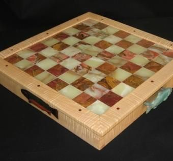 Custom Made Pacific Salmon Chess Board