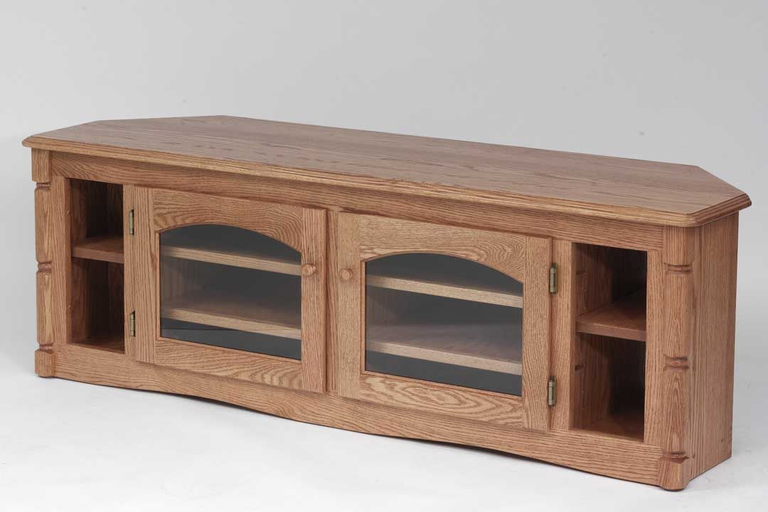 Custom Made Solid Wood Tv Stand Country Oak Plasma Lcd Corner