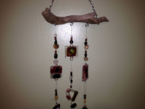 Custom Made Driftwood Fused Glass Chime, Sun Catcher, Or Mobile