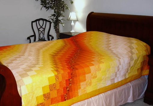 Custom Made Bargello Quilt - Queen Size - Sunset