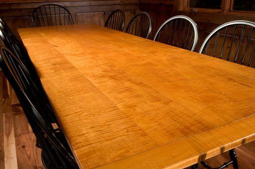 Custom 10 Tiger Maple Dining Table By Carolina Farm Table
