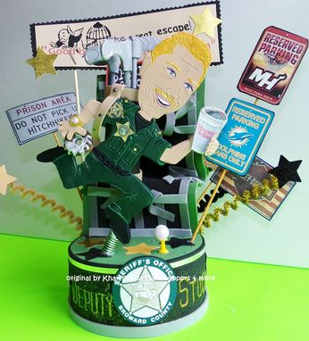 Custom Made Police Retirement Or Birthday Cake Topper Look Alike