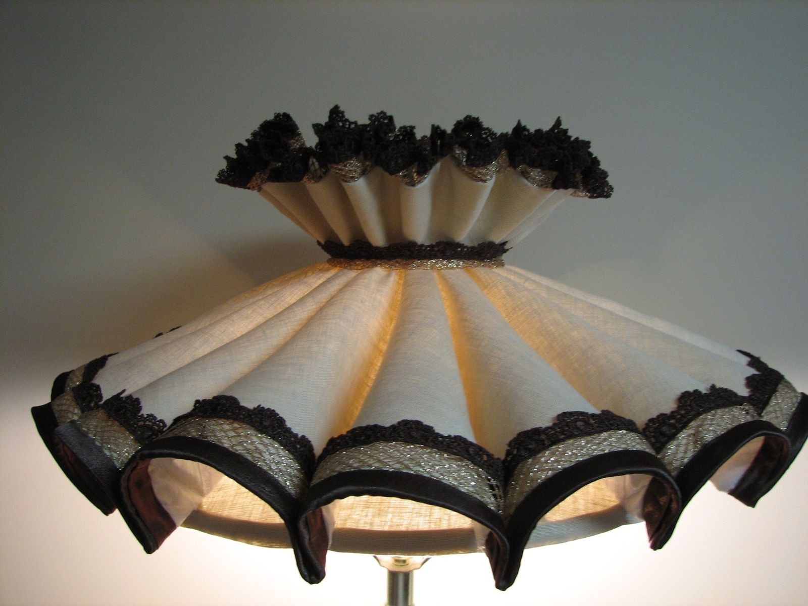 Custom early american lampshade recover by suzanne michelle custom made early american lampshade recover aloadofball Gallery