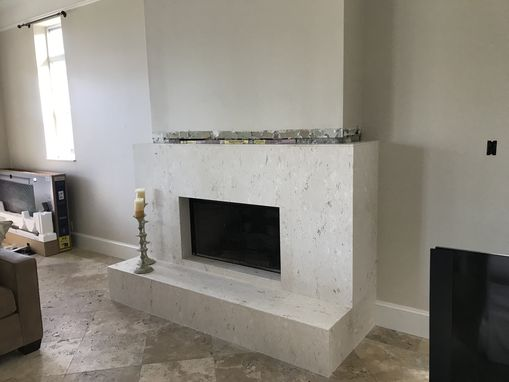 Custom Made Custom Flame Birch Mantel