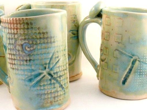 Custom Made Ceramic Mug Dragonfly Coffee Cup Large Pottery