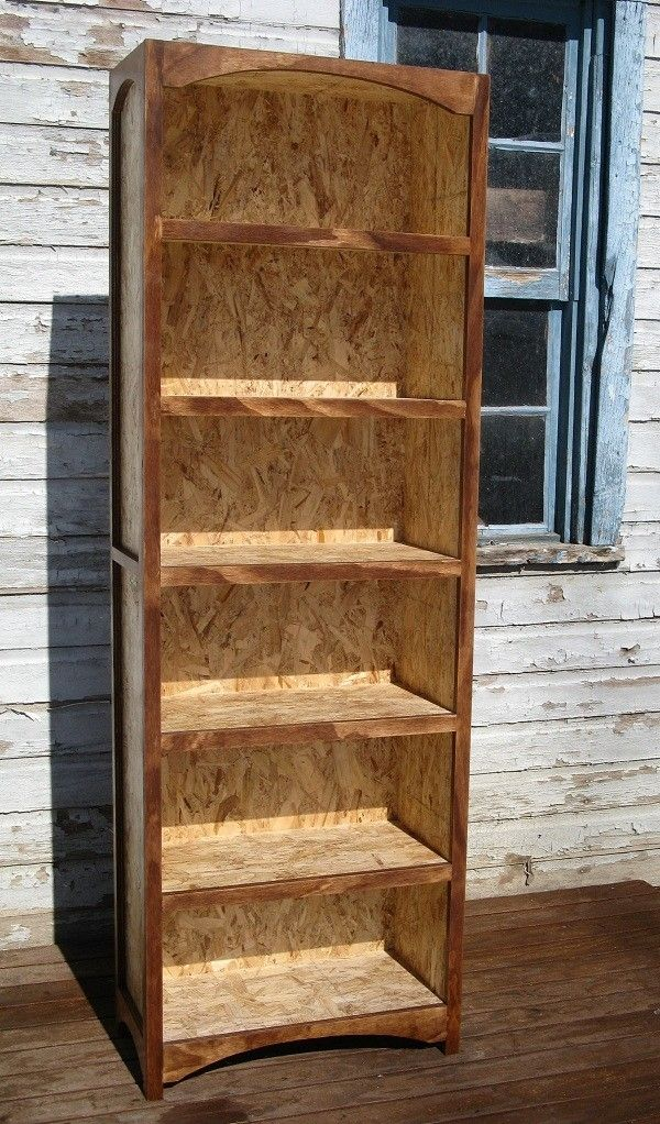 Custom Made Bookcase Osb With Hardwood Face Frame By