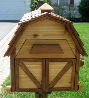 Custom Made Cedar Barnhouse Mailbox