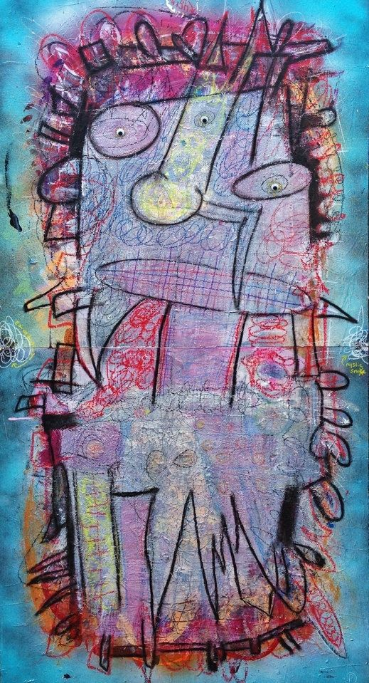 Hand Made The Immortal Jellyfish Large Original Abstract Painting