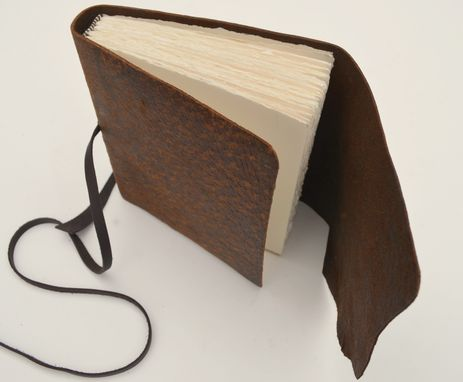 Custom Made Handmade To Order Pigskin Leather Bound Travel Journal Diary Notebook