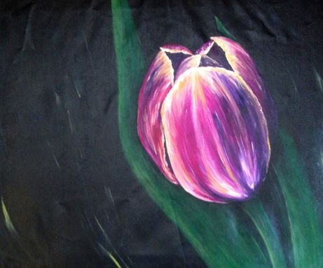 Custom Made 30x25 Original Modern Semi Impressonist Contemporary Abstract Tulip Painting By Alisha