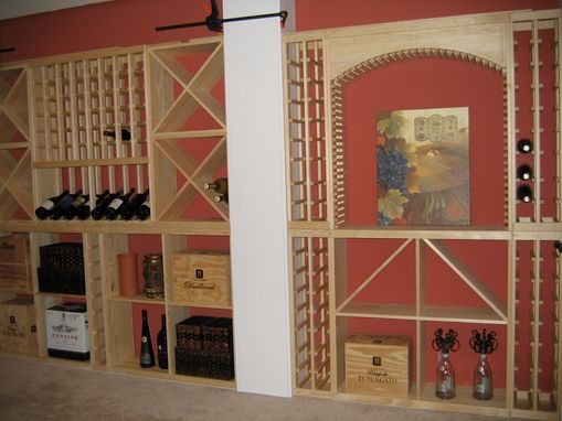 Custom Made Wine Cellar With Vintage Wine I