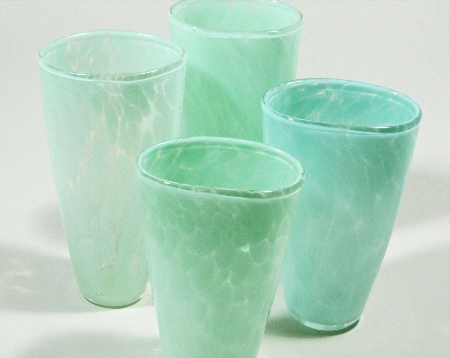 Hand crafted celadon glass vase flat sided by david jacobson glass custom made celadon glass vase flat sided reviewsmspy
