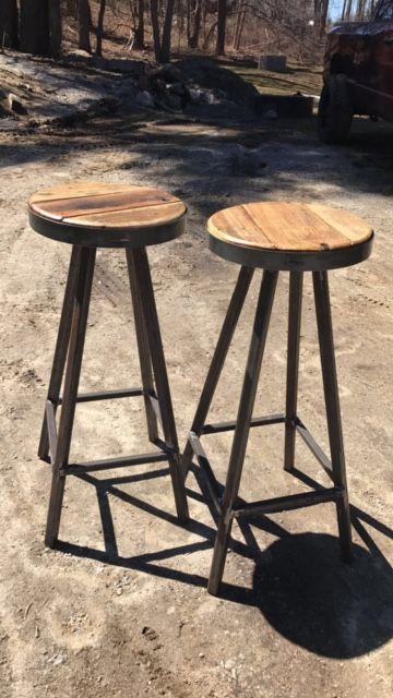 Retro Black Bistro Table Pub Set With