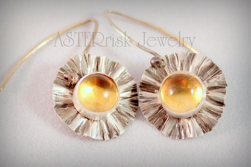 Custom Made Silver And Citrine Earrings