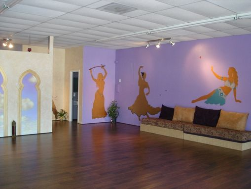 Custom Made Dance Studio Mural With 3d Decorations And Metallic Silhouettes By Visionary Mural Co.