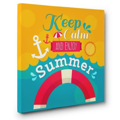 Custom Made Keep Calm And Enjoy Summer Canvas Wall Art