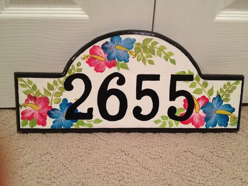 Custom Made Address Plaque Hand Painted