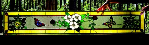 Custom Made Residential Project - Flower And Butterfly Transom