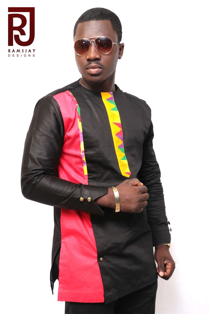Buy A Hand Crafted Mens African Fashion Wearkente Multicoloured