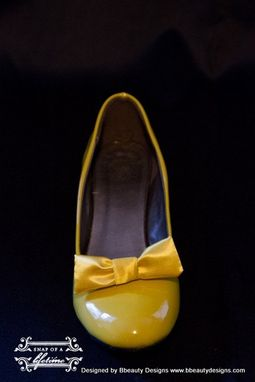 Custom Made Snow White Style Adult Costume Pair Shoes Dress Shoes Custom Made