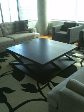 Custom Made Blackened Ash Coffee Table