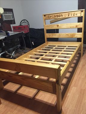 Custom Made Twin Bed Alabama Crimson Tide