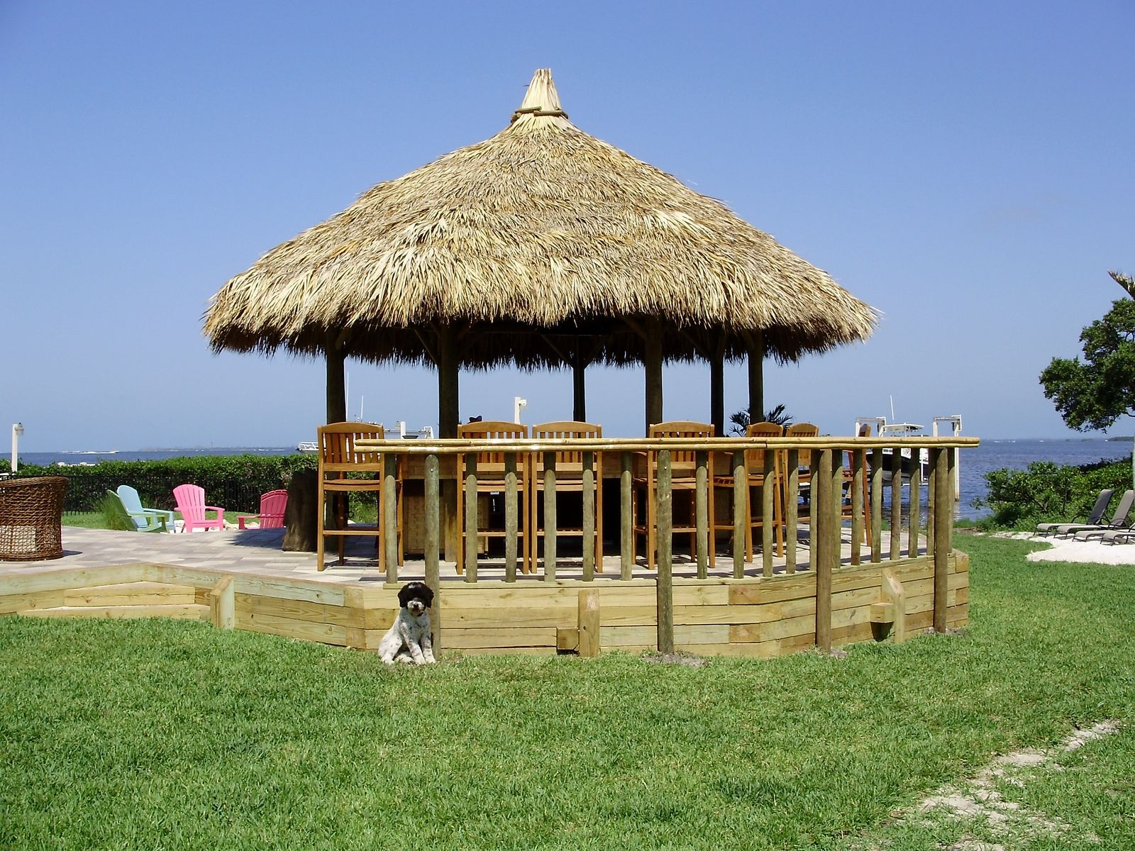 Hand Crafted Custom Round Tiki Hut By Suncoast Tiki Huts