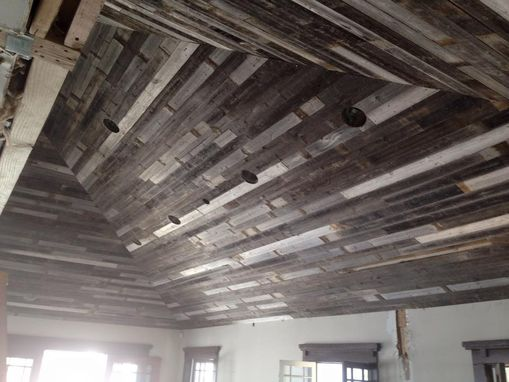 Custom Made Reclaimed Wood Ceiling Or Wall