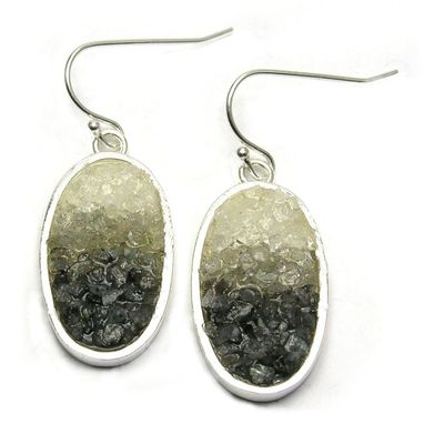 Custom Made Gemstone Mosaic Earrings