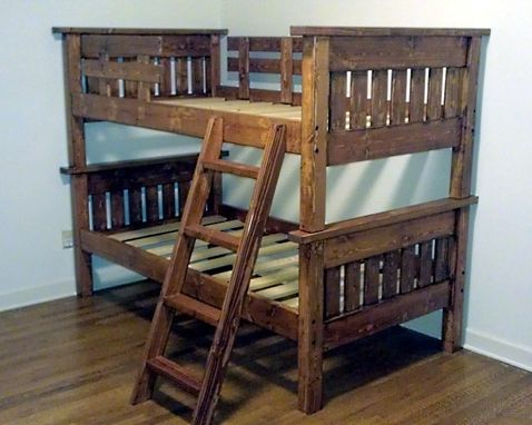 Custom Made Mission Style Twin Bunk Bed
