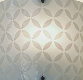Custom Made Modern White Glass Wall Sconce