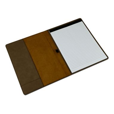 Custom Made Custom Engraved Dark Brown Leather Portfolio