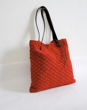 Custom Made Red Handmade Crochet Handbag