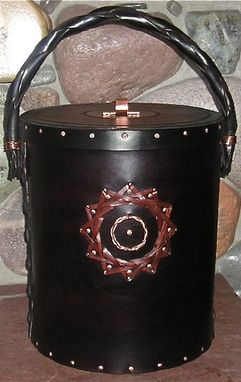 Custom Made Fine Quality Hand Crafted Leather Bucket W/Lid
