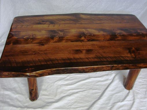 Custom Made Live Edge Coffee Table On Small Log Legs