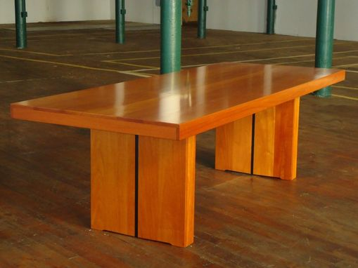 Custom Made Contemporary Mahogany Conference Table
