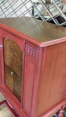 Custom Made Antique Wine Cabinet