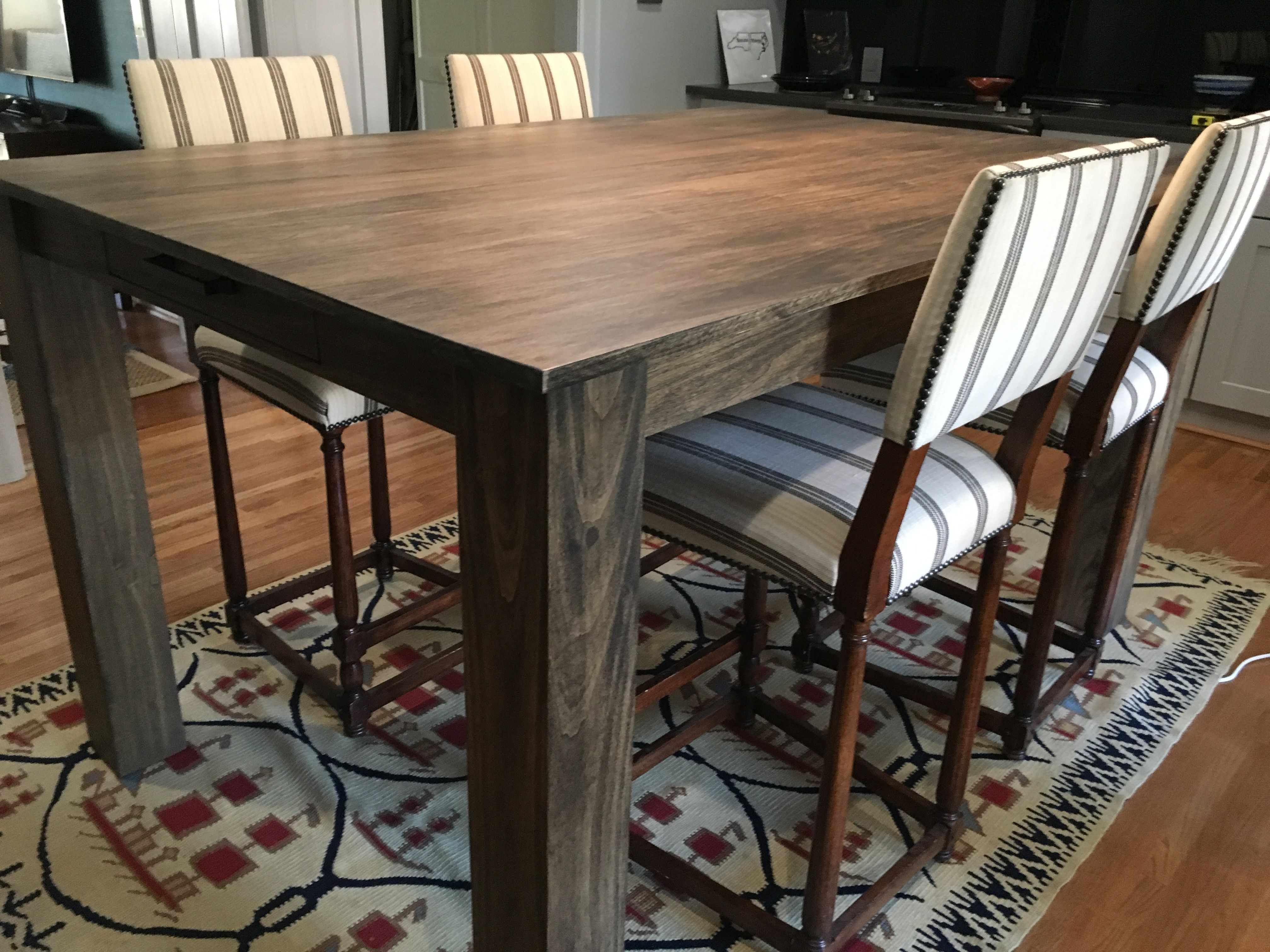 Custom Modern Rustic Dining Table by Edwood Art & Craft ...