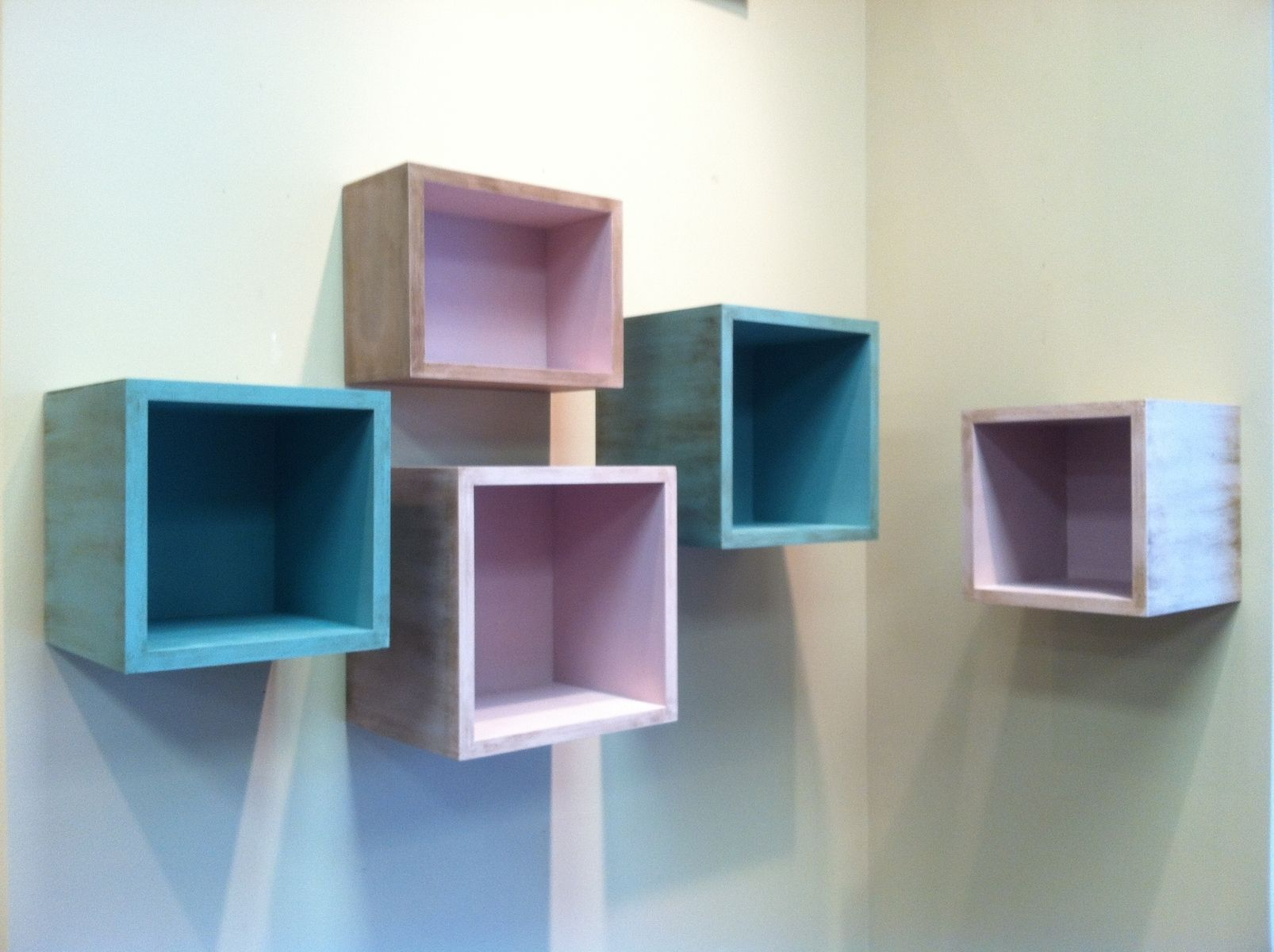 handmade floating box shelves by j richard 39 s. Black Bedroom Furniture Sets. Home Design Ideas