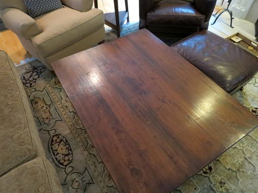 Custom Made Reclaimed Coffee Table In Antique Walnut Finish