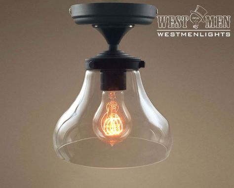 Custom Made Westmenlights Clear Glass Bell Shade Ceiling Lamp Chandeliers Light Fixture Mini