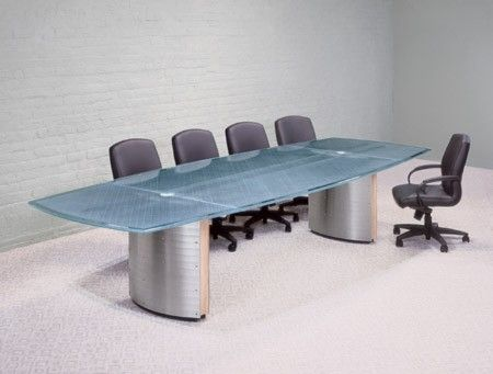 Custom Made Crescent Conference Table And Console