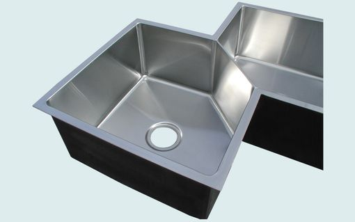Custom Made Stainless Sink With 5-Sided Bowls